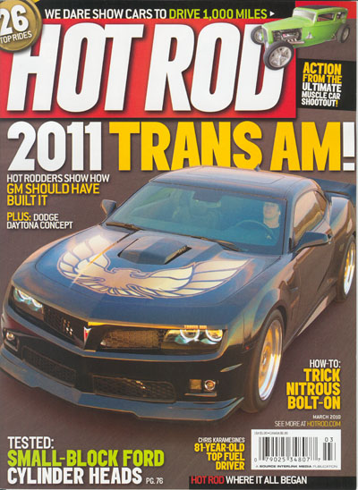 Kevin Morgan Edition Trans Am in Hot Rod Magazine
